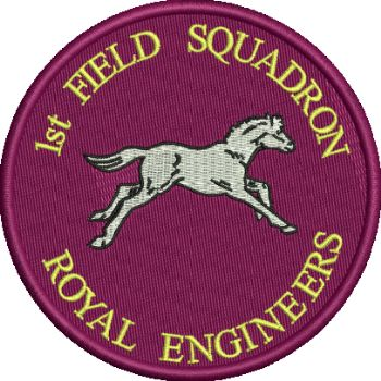 1ST FLD SQN Embroidered Badge